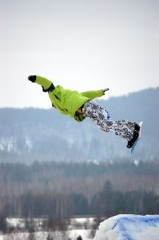 Snowboard Free Style Stock Photography