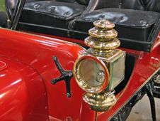 Beautiful Antique Car Brass Lamp Royalty Free Stock Photo