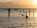 Free Seagulls On Fishing Nets Poles Stock Photo - 4717650