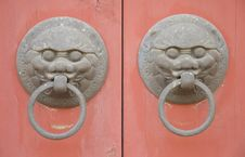 Free Chinese Door Knocker Stock Images - 4710194