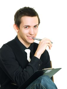 Young Man Working Royalty Free Stock Photography