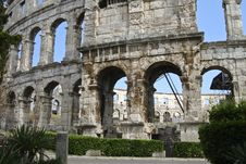 Free Colosseum Of Pula Stock Images - 4710604