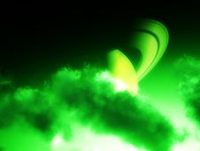 Free Green Saturn Clouds 2 Stock Photo - 4711950