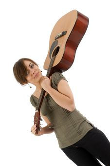 Free Girl With The Guitar Stock Photography - 4712122