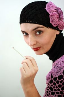 Free Portrait Of Woman With Cigarette In Retro Style Royalty Free Stock Photo - 4712265