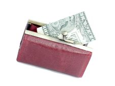 Free Money In A Red Purse Stock Photography - 4712472