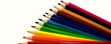 Bright Color Pencils Stock Images