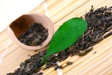 Free Green Tea Leaves Stock Image - 4712681