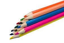 Free Diagonal Bright Color Pencils Royalty Free Stock Image - 4712886