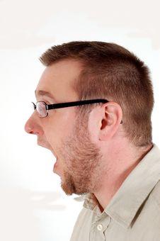 Man Screaming Stock Images