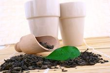 Free Green Tea Leaves Royalty Free Stock Photography - 4712957