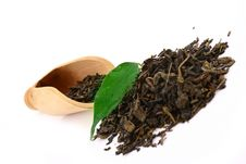 Free Green Tea Leaves Royalty Free Stock Image - 4713086