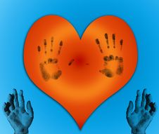 Free Heart With Hands Royalty Free Stock Images - 4713609