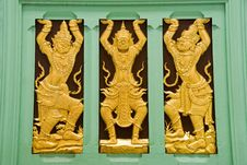 Buddhist Temple Demons Stock Photos