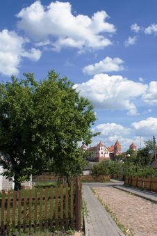 Free View To Castle From Mir Village Stock Photos - 4714743
