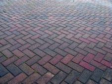 Free Herringbone Pattern Pavement Stock Photography - 4715362