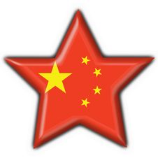 Free China Button Flag Star Shape Royalty Free Stock Photos - 4715598