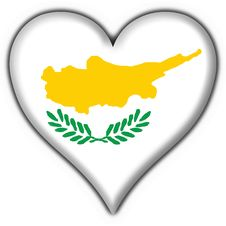 Free Cyprus Button Flag Heart Shape Royalty Free Stock Photos - 4715608