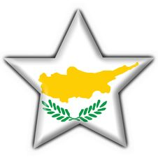 Free Cyprus Button Flag Star Shape Stock Image - 4715611