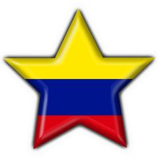 Free Colombia Button Flag Star Shape Stock Image - 4715621