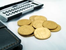 Calculator And Money Royalty Free Stock Images
