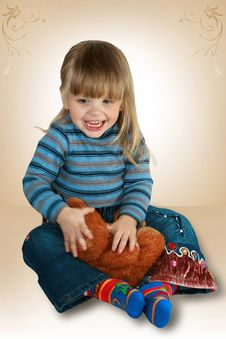 Portrait Of The Small Girl Royalty Free Stock Photos
