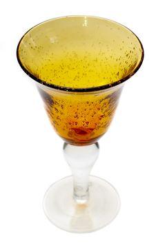 Free Big Yellow Wineglass Royalty Free Stock Photography - 4716567