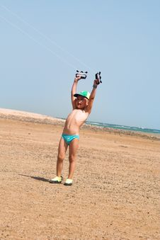 Free The Little Boy And Kite Stock Photo - 4716850