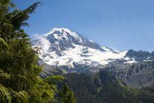 Free Blue Skies At Mt. Rainier Royalty Free Stock Photo - 4717205