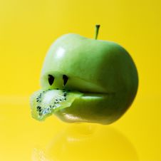 Free Hungry Apple Stock Photo - 4717320
