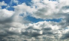 Clouds Above City Stock Images