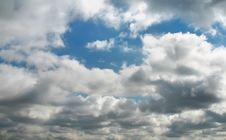 Clouds Above City Royalty Free Stock Photo