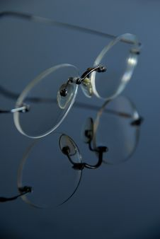 Free Glasses On The Glass Stock Image - 4717861