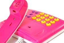 Free The Fantastically Pink Telephone Royalty Free Stock Photo - 4718515