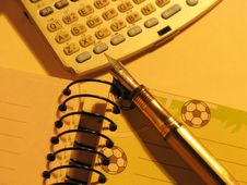 Notebook Pen And Pocket PC Royalty Free Stock Images