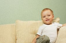 Free The Cheerful Little Boy Stock Photo - 4718730