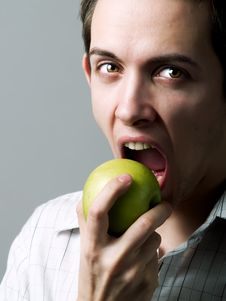 Free Eating An Apple Stock Photos - 4719173