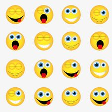 Free Smile Pattern Royalty Free Stock Photo - 47160365