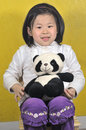 Free Girl With Panda Toys Stock Image - 4721291