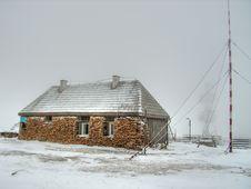 Meteo Station Vladeasa (Carpathian) Royalty Free Stock Photo