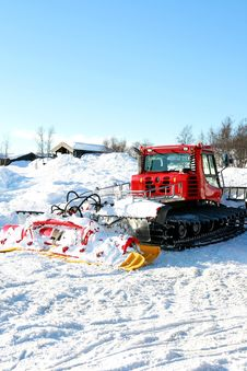 Snow Groomer Stock Photo