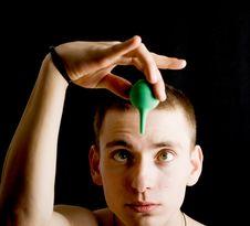 Free Naked Man With Medicine Syringe Stock Image - 4720341