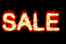 Free Flame SALE Banner Royalty Free Stock Image - 4720586