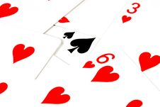 Black Heart - Playing Cards Royalty Free Stock Image