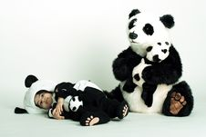 Panda Love2 Stock Image