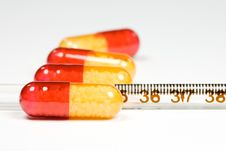 Free Medication And Thermometer Stock Photography - 4720712