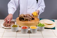 Free Chef Prepares Fresh Taco Royalty Free Stock Images - 4721009