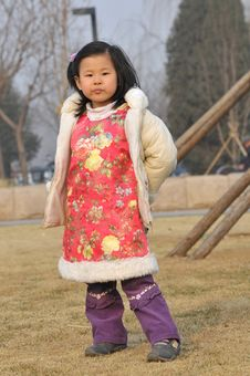 Chinese Girl Have Beautiful Wear Stock Photo