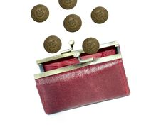 Free Money In A Red Purse Stock Image - 4721271