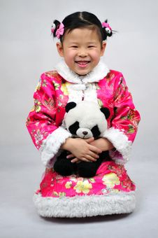 Free Chinese Girl Have Beautiful Wear Stock Images - 4721304